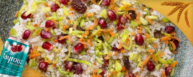 Chinese rice with Fayrouz Pomegranate