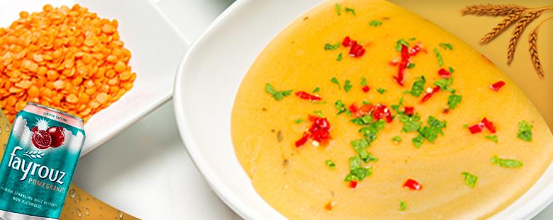 Lentil Soup with Fayrouz Pomegranate