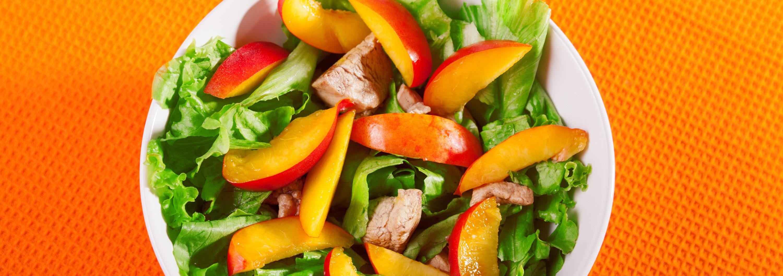 Avocado & Peach Salad with Fayrouz Peach