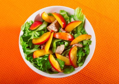 Avocado & Peach Salad with Fayrouz Peach
